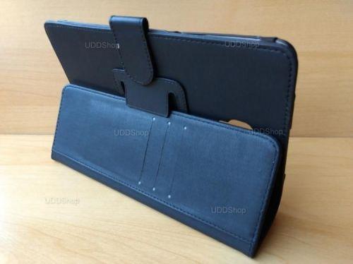 Capa Case Carteira Couro PRETA Tablet Samsung Galaxy Tab A 8.0 Modelos SM-T380 ou SM-T385 2017 + Frete Grátis 418984