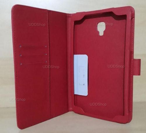 Capa Case Carteira Couro VERMELHA Tablet Samsung Galaxy Tab A 8.0 Modelos SM-T380 ou SM-T385 2017 + Frete Grátis 418965