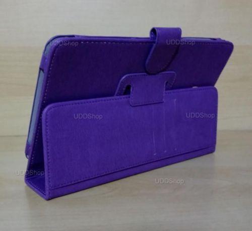 Capa Case Carteira Couro ROXA Tablet Samsung Galaxy Tab A 8.0 Modelos SM-T380 ou SM-T385 2017 + Frete Grátis 418956
