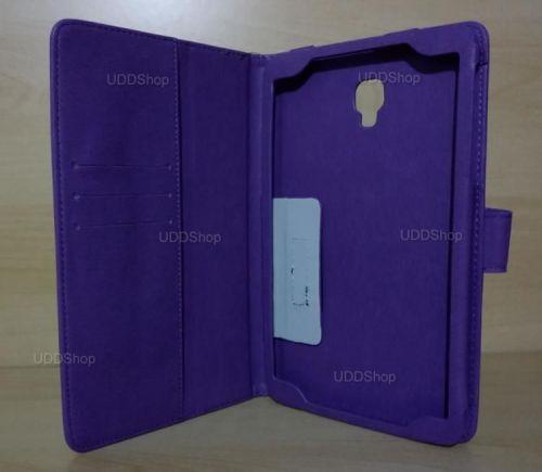 Capa Case Carteira Couro ROXA Tablet Samsung Galaxy Tab A 8.0 Modelos SM-T380 ou SM-T385 2017 + Frete Grátis 418953