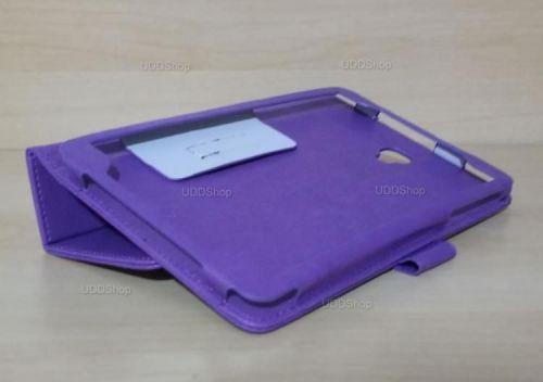 Capa Case Carteira Couro ROXA Tablet Samsung Galaxy Tab A 8.0 Modelos SM-T380 ou SM-T385 2017 + Frete Grátis 418955