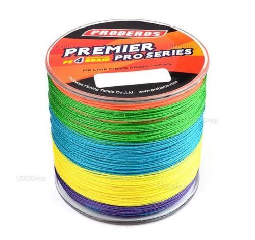 Linha de Pesca Multi-Filamento Proberos 500 metros 0,45mm 70Lbs 31Kg cor Colormix + Frete Grátis 418934