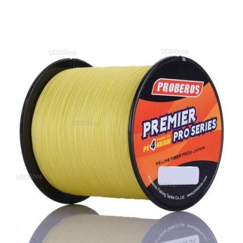 Linha de Pesca Multi-Filamento Proberos 500 metros 0,36mm 50Lbs cor Amarela + Frete Grátis 418921