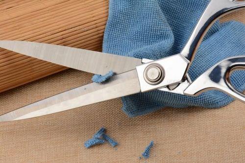 Tesoura Profissional de Aço para Alfaiataria, Costura, Artesanato, Papel, Borracha ou Plástico - Prata + Frete Grátis 420880