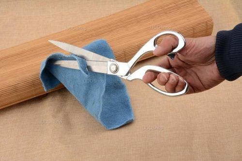 Tesoura Profissional de Aço para Alfaiataria, Costura, Artesanato, Papel, Borracha ou Plástico - Prata + Frete Grátis 420879
