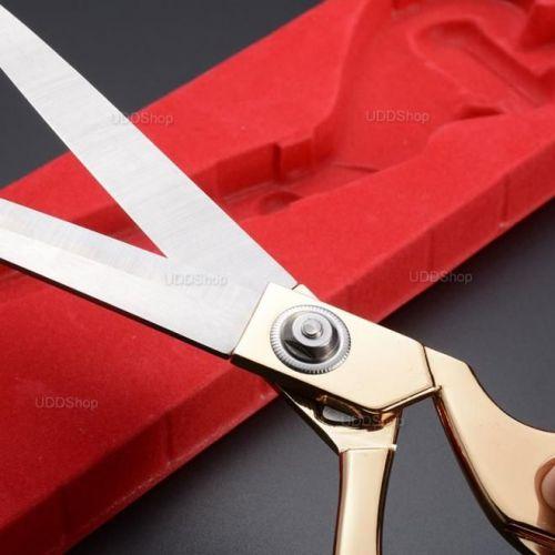 Tesoura Profissional de Aço para Alfaiataria, Costura, Artesanato, Papel, Borracha ou Plástico - Dourada + Frete Grátis 420860