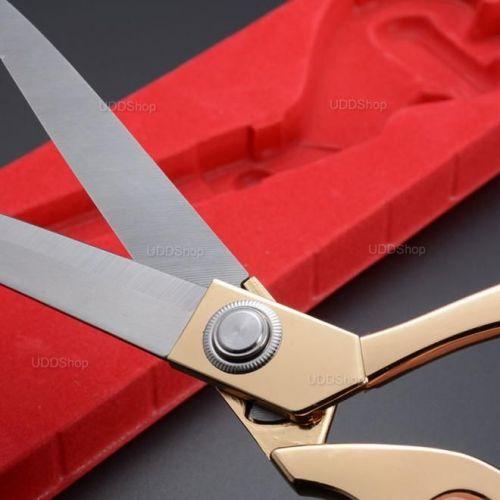 Tesoura Profissional de Aço para Alfaiataria, Costura, Artesanato, Papel, Borracha ou Plástico - Dourada + Frete Grátis 420859