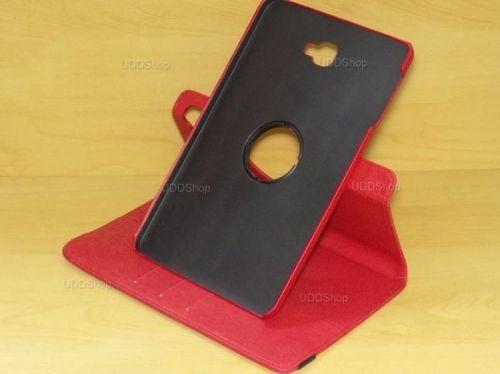 Capa Case Capinha Carteira Giratória 360° VERMELHA Tablet Samsung Galaxy Tab A 10.1 (2016) SM-T580 ou SM-T585 + Frete Grátis 503974