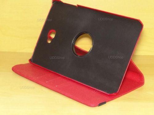 Capa Case Capinha Carteira Giratória 360° VERMELHA Tablet Samsung Galaxy Tab A 10.1 (2016) SM-T580 ou SM-T585 + Frete Grátis 503977