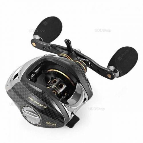 Carretilha Mão Direita FishDrops LB200R 18 Rolamentos - Gear Ratio 7.0:1 - Drag 5.5kg 211g + Frete Grátis 503942