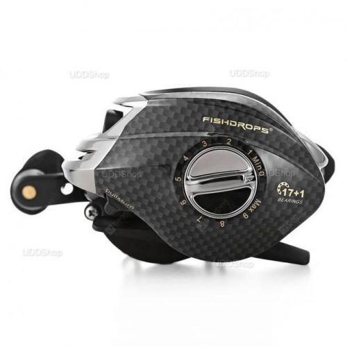 Carretilha Mão Direita FishDrops LB200R 18 Rolamentos - Gear Ratio 7.0:1 - Drag 5.5kg 211g + Frete Grátis 503943