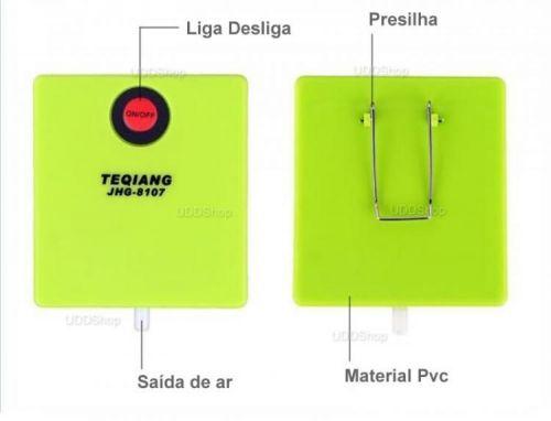 Bomba de AR Oxigênio Portátil para Aquário. Ideal para manter Iscas Viva. Peixe ou Camarão + Frete Grátis 503906