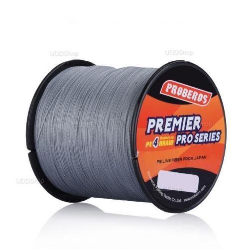 Linha de Pesca Multi-Filamento Proberos 300 metros 0,20mm 20Lbs 9Kg cor Cinza + Frete Grátis 503900