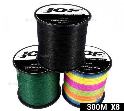 Linha de Pesca Multi-Filamento Jof 300 metros 0,18mm 22Lbs 8 Fios 10Kg cor Preta + Frete Grátis 511072