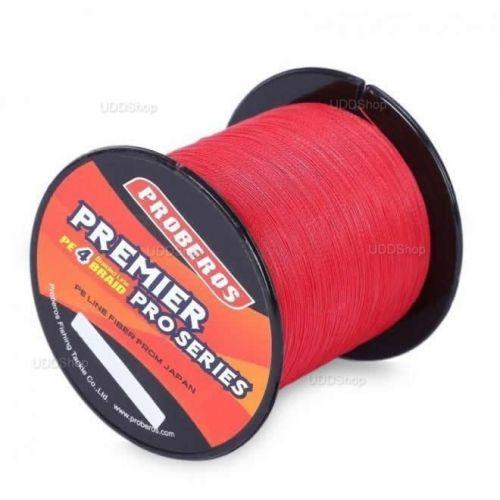 Linha de Pesca Multi-Filamento Proberos 300 metros 0,30mm 35Lbs 15kg cor Vermelha + Frete Grátis 512298
