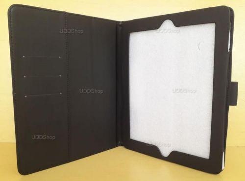 Capa Case Pasta Carteira PRETA Tablet Apple iPad2 A1395 A1396 A1397 -- iPad3 A1416 A1430 A1403 -- iPad4 A1458 A1459 A1460 + Frete Grátis 512261