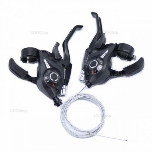 Conjunto Alavanca Passador Cambio Manete Rapid Fire V-Brake Shimano 21v ST-EF51-7R ST-EF51-3L 527276