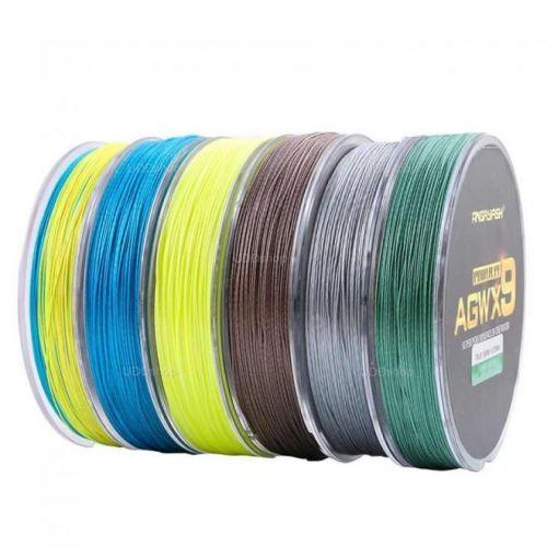 Linha de Pesca Multi-Filamento X9 Diominate ANGRYFISH 300 metros 0,16mm 25Lbs 9 Fios 11Kg cor Verde 527275