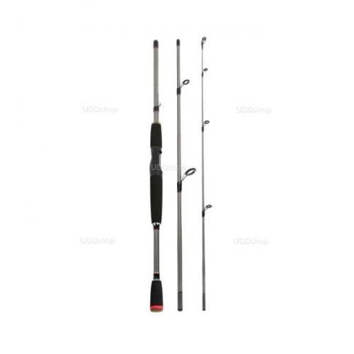 Vara de Pesca Fibra de Vidro Ação Média 1.8m 6 - 15Lbs para Molinete - Grafite 3 Partes 532748