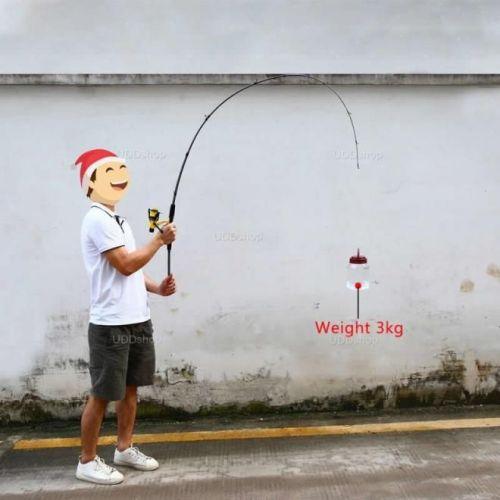 Vara de Pesca Fibra de Vidro Ação Média 1.8m 6 - 15Lbs para Molinete - Grafite 3 Partes 532749