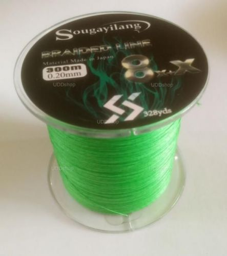 Linha de Pesca Multi-Filamento X9 Sougayilang 300 metros 0,20mm 28Lbs 9 Fios 12Kg cor Verde 579684
