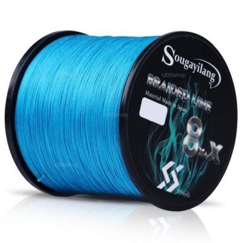 Linha de Pesca Multi-Filamento X9 Sougayilang 300 metros 0,45mm 100Lbs 9 Fios 45Kg cor Azul 579679