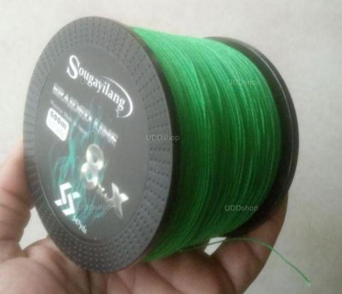 Linha de Pesca Multi-Filamento X9 Sougayilang 500 metros 0,45mm 100Lbs 9 Fios 45Kg cor Verde 579667