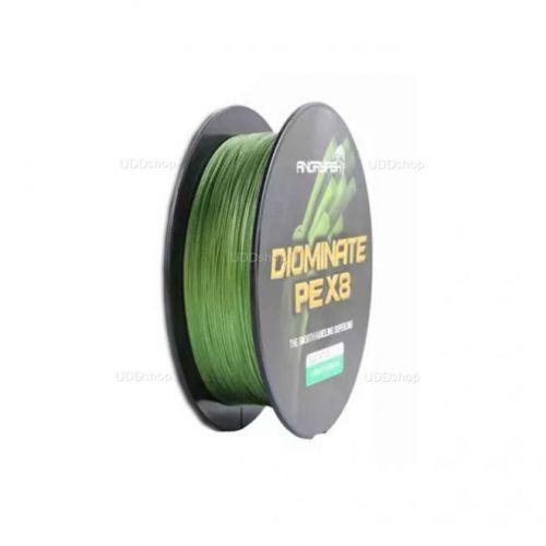 Linha de Pesca Multi-Filamento X8 Diominate ANGRYFISH 300 metros 0,50mm 80Lbs 8 Fios 36Kg cor Verde 586186