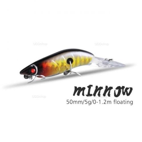 Isca Artificial Tipo Camarão Doido para Pesca 50mm 5g Amarela vermelho 586171