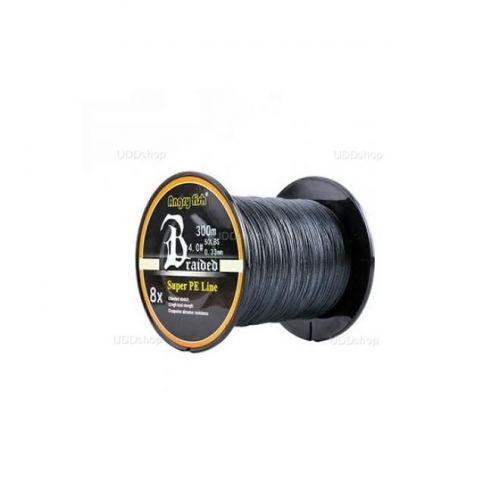 Linha de Pesca Multi-Filamento X8 ANGRYFISH 300 metros 0,23mm 30Lbs 8 Fios 13Kg cor Preta V2 592821