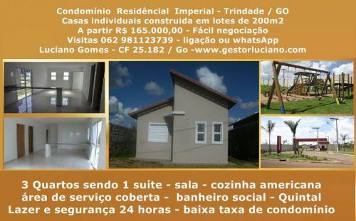 Casas individuais em condomínio 3 Quartos 1 Suíte construídas em lotes de 200 m2 em Trindade  Go 411077