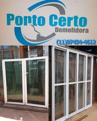 Compra De Portas e Janelas De Alumínio Branco Usadas Em São Paulo e Região 318534