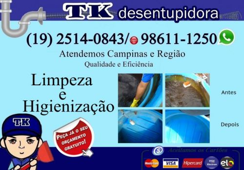 Desentupidora no Bairro Guanabara em Campinas 2514-0843 ou 98611-1250 zap Aceitamos Cartão Orçamento Grátis 485331