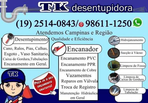 Desentupidora no Parque Santa Bárbara em Campinas 19 2514-0843 ou 98611-1250 Desentupidora 24 Horas 484574