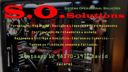 Disk Assistência Informática - S.o.solutions Jacarei 12 98170-1976 414202