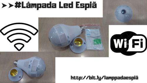 #lâmpada Led Espiã com Câmera por wi fi 469648