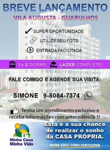 Lançamento Voss Guarulhos Mcmv Vila Augusta 2 dorms com terraço 419414