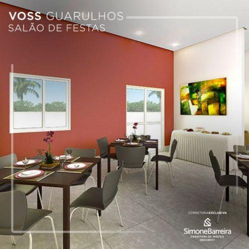 Lançamento Voss Guarulhos Mcmv Vila Augusta 2 dorms com terraço 423312