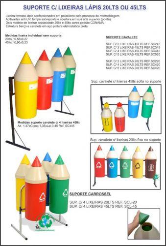 Lixeiras lápis formato educativo-lançamento confira entrega em Porto Alegre 308779