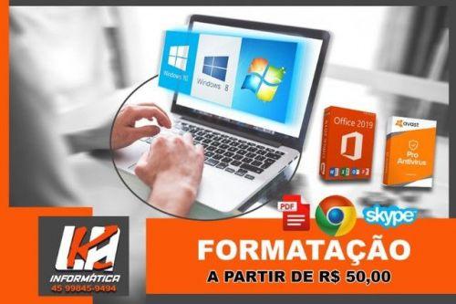 Formatação Pc e notebooks em cascavel Pr 581353