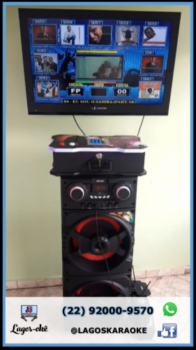 Máquina Karaokê Videoke Jukebox Região dos Lagos 518500