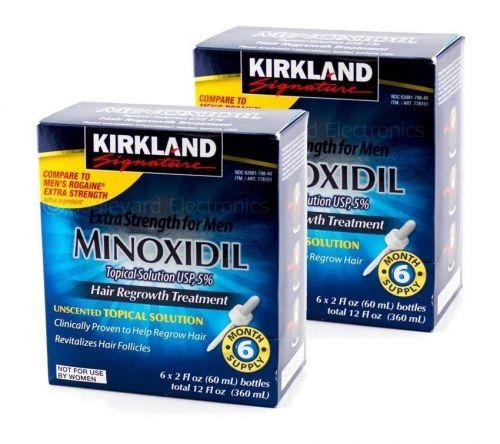 Minoxidil Kirkland Kit para 6 meses  Original  pronta entrega 403431