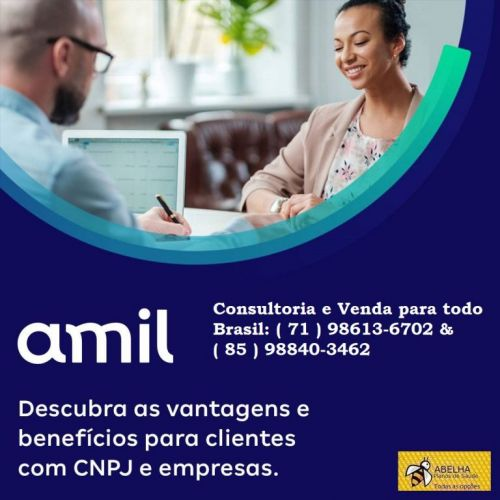 Plano De Saúde Amil -conheça os Benefícios oferecidos e adquira já o  Amil Saúde com  Diversas Vantagens- 85 98840-3462 562670