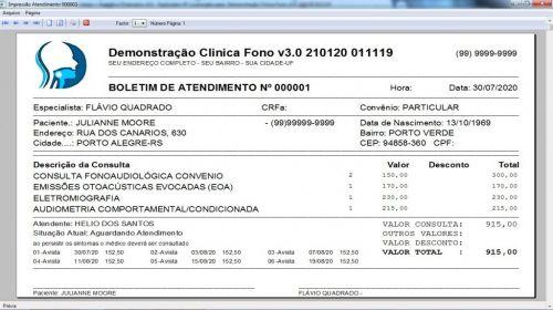 Programa Gerenciar Clinica Fonoaudióloga com Agendamento  Financeiro v3.0 Plus - Fpqsystem 579952