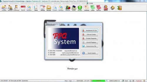 Programa Gerenciar Clinica Fonoaudióloga com Agendamento  Financeiro v3.0 Plus - Fpqsystem 579963