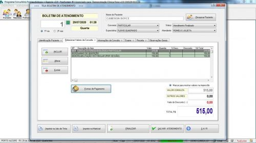 Programa Gerenciar Clinica Fonoaudióloga com Agendamento v2.0 - Fpqsystem 579927