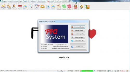 Programa Gerenciar Clinica Fonoaudióloga com Agendamento v2.0 - Fpqsystem 579943