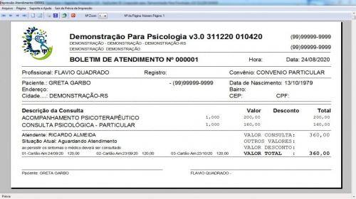 Programa Gerenciar Consultório Psicológico  Financeiro v3.0 Plus - Fpqsystem 578002