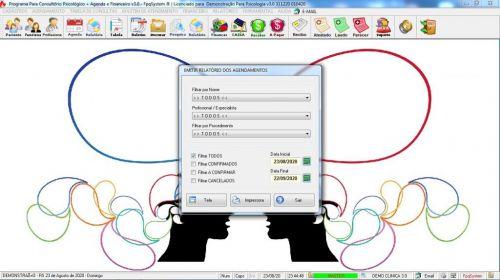 Programa Gerenciar Consultório Psicológico  Financeiro v3.0 Plus - Fpqsystem 578010