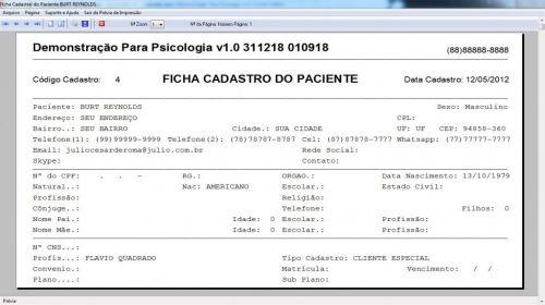 Programa Gerenciar Consultório Psicológico v1.0 - Fpqsystem 577963